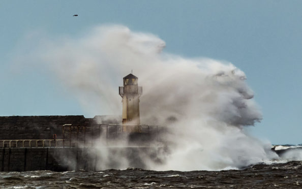 Waves breaking on the sea front, like this picture from Storm Gertrude, is a familiar sight.