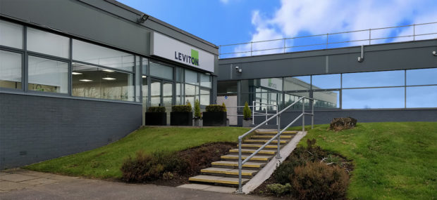 The former Brand-Rex factory at Glenrothes now operates under the banner of parent group Leviton