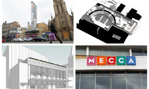 The plans would see Dundees Mecca Bingo hall transformed.