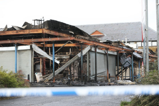 The aftermath of the fire that tore through the Hilltown Indoor Market and Fit4Less gym on Main Road, Hilltown.