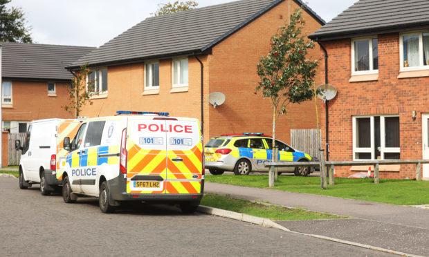Police on Hoylake Place.