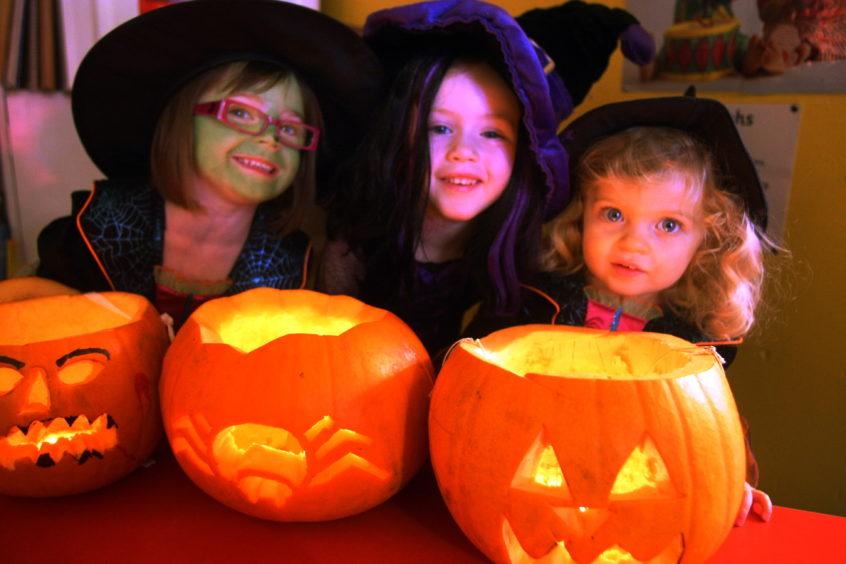 Langlea Nursery in Broughty Ferry held a Halloween party.
