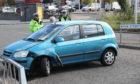 The crash on Bank Street, Lochee.
