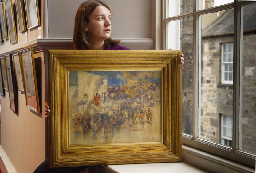 Carly Shearer with 'The Travelling Theatre, Buffalo Bill at Arbroath' by James Watterston Herald.