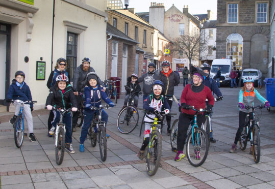 Angus Cycle Hub staged a successful spooky cycle ride for families last weekend