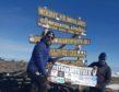 Alex McClintock (left) and Adam Allison at the summit.