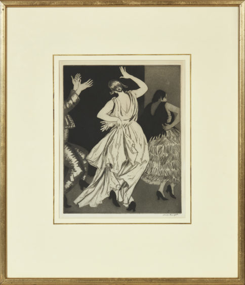 Dame Laura Knight etching.
