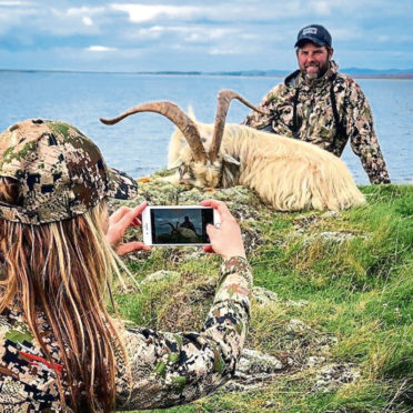 Images of a goat that was hunted on Islay by Larysa Switlyk.
