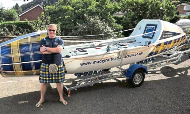 John Davidson is rowing the Talisker Challenge across the Atlantic to aim to raise £1m for the Doddie Weir foundation for Motor Neurone Disease research.