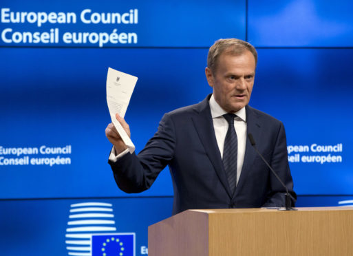Our correspondent says Donald Tusk has already offered a deal that can work for the UK.