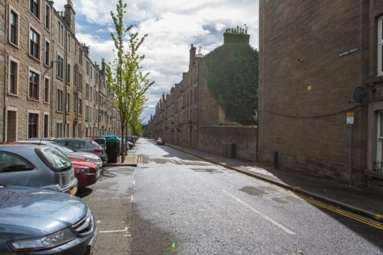 Baldovan Terrace, where the incident occurred.