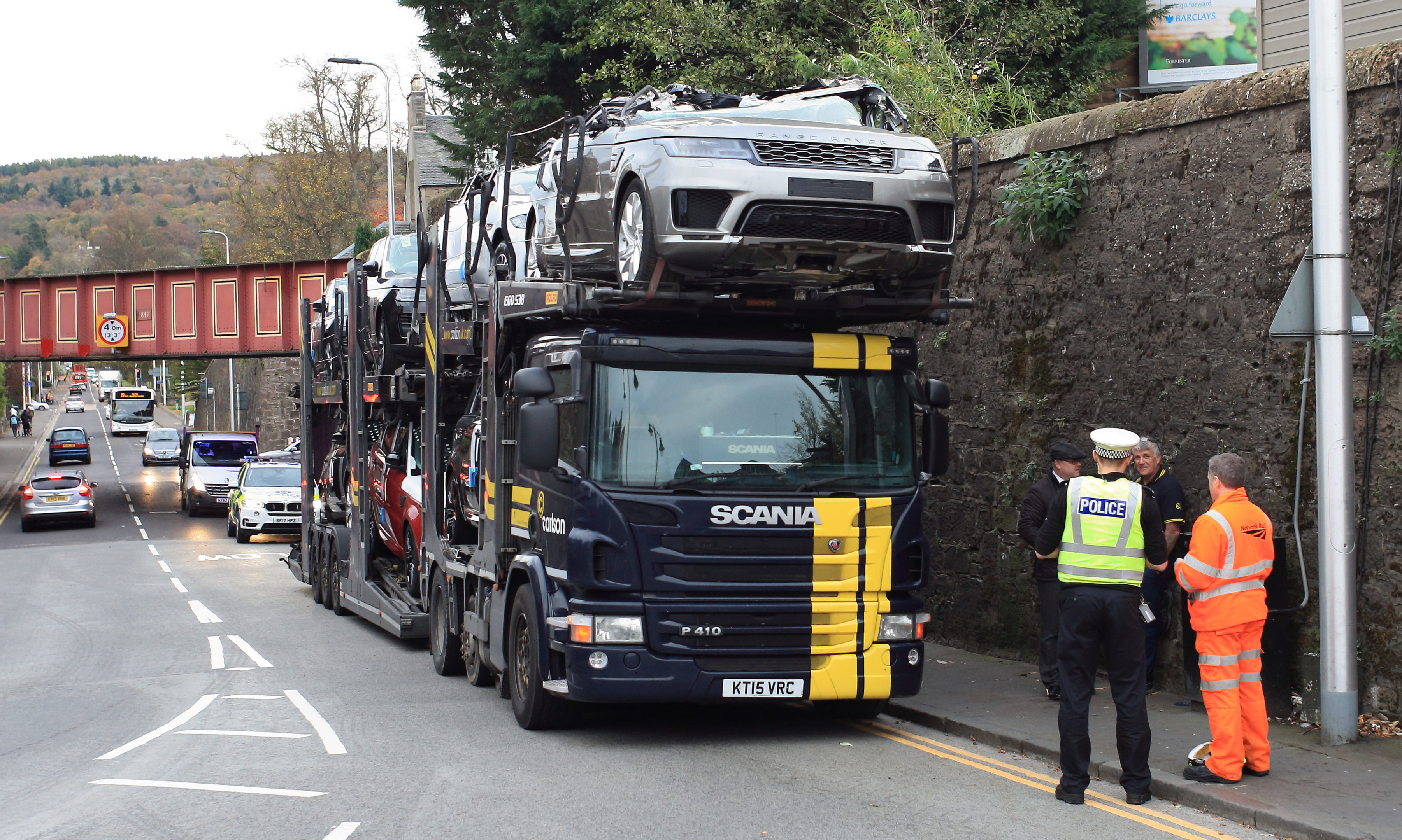 Video High Value Motors Written Off As Car Transporter Ploughs Into