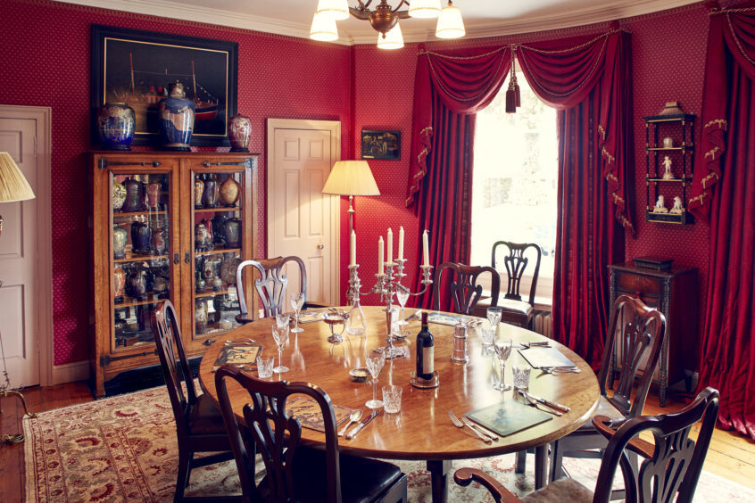 The home's dining room.