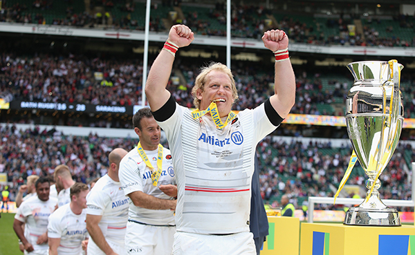 Petrus Du Plessis of Saracens won two Champions' Cups and three Premiership titles with Saracens.