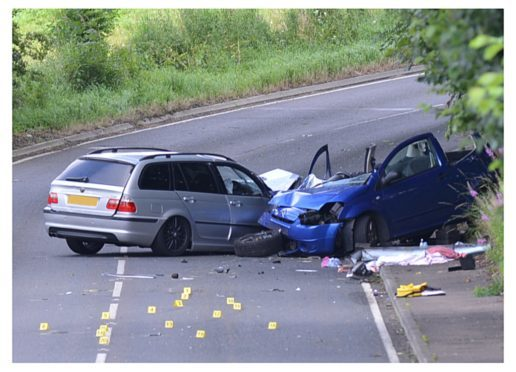 The scene of the accident.
