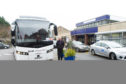 A replacement bus in Perth on Wednesday.