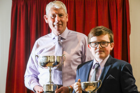 Carnoustie Citizen of the Year and Junior Citizen of the Year Robin Marshall and Craig Guthrie.