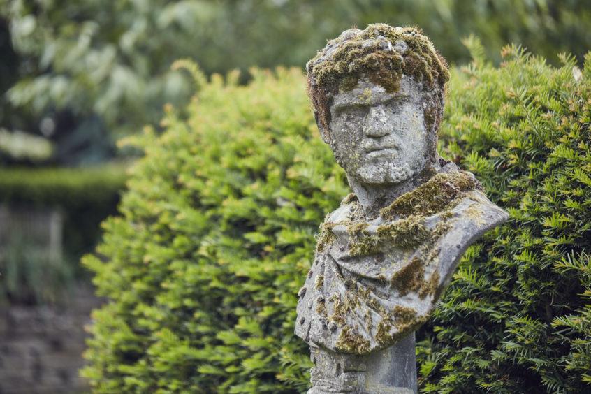 A sculpture in the home's garden.