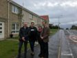 Stephen Gethins MP and Cllr Alistair Suttie are pictured with Dianne Mallin and Gillian Carstairs on Cupar Road, Leven.