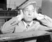 Silent movie hero Buster Keaton.