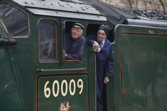John Cameron aboard Union of South Africa during the Borders Railway formal opening.