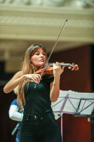 Nicola Benedetti performing at the Caird Hall, Dundee.