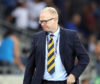 A dejected Alex McLeish in Israel.