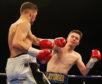 John Docherty knocks down Jordan Latimer.