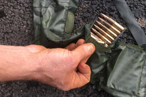 The ammunition recovered from Keptie Pond.
