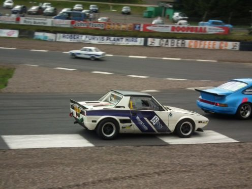 Alastair Baptie in action in his classic Fiat.