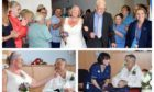 Robert and Debbie tying the knot at Ninewells Hospital.