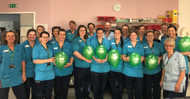 NHS Tayside staff celebrating Occupational Therapy Week.