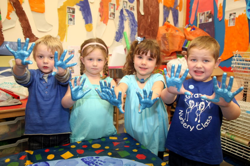 Grange Nursery in Monifieth had a 'Blue Day' for World Diabetes Day.