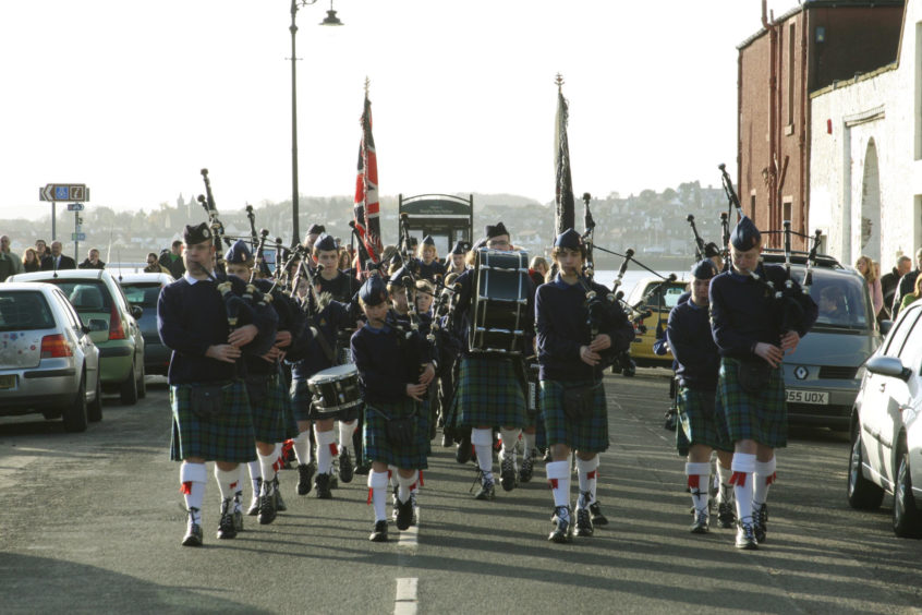 Members of the 44th Boys Brigade Company marched through Broughty Ferry as part of the Brigade's 125th Anniversary and the 44th Companys' 50th anniversary.