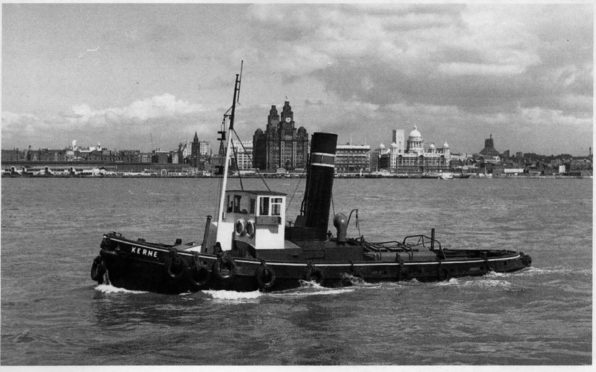 Steam tug Kerne in 1965.