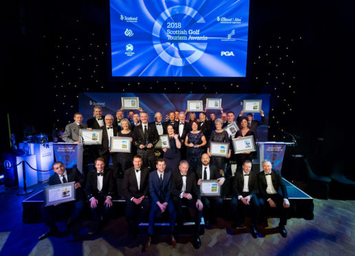 Scottish Golf Tourism Awards, Fairmont St Andrews,
