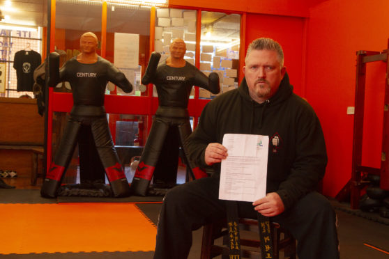 Mark Davies runs The Best Defence martial arts centre in Arbroath