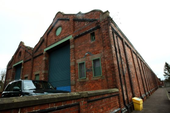 The former tram depot in Stobswell that Dundee Museum of Trasnport hopes to convert into its new home.