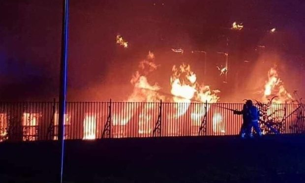 Fife Jammer Locations posted a photograph of the dramatic blaze on Facebook