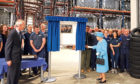 The Queen officially opening a new extension at Michelin's Dundee factory in 2016.