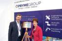 North Tyneside mayor Norma Redfearn and Pryme Group CEO Angus Gray
