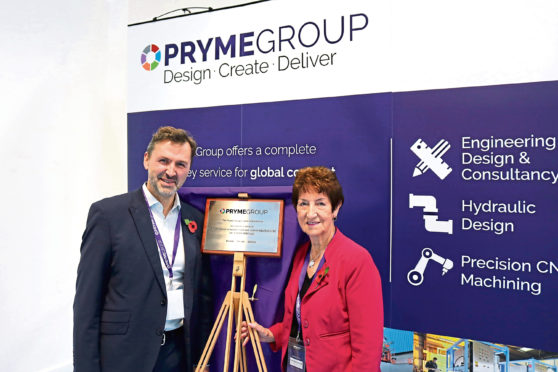 North Tyneside mayor Norma Redfearn and Pryme Group CEO Angus Gray