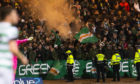 Celtic Fans in the away end.
