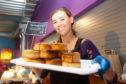Rhiannon Ingram with some Cool Jerk Vegan Pies.