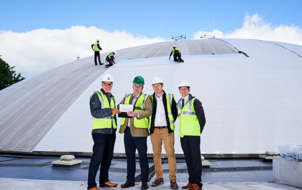 Bell's Sports Centre re-roofing project.