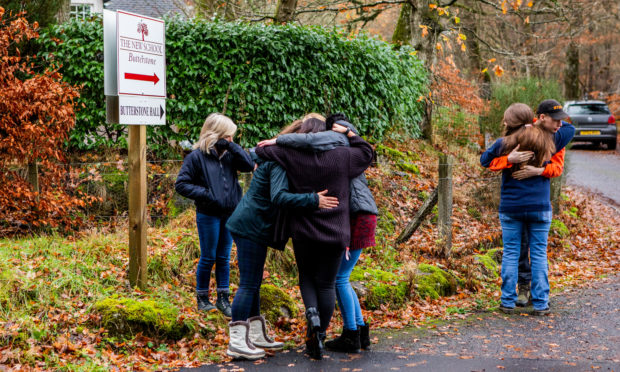 Families were distraught as the school closed for the final time