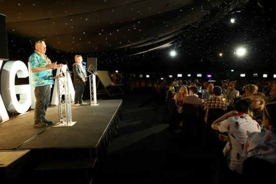Paul Durrant, from the UK Games Fund, addresses the guests at the UKGF Awards at the ceremony.