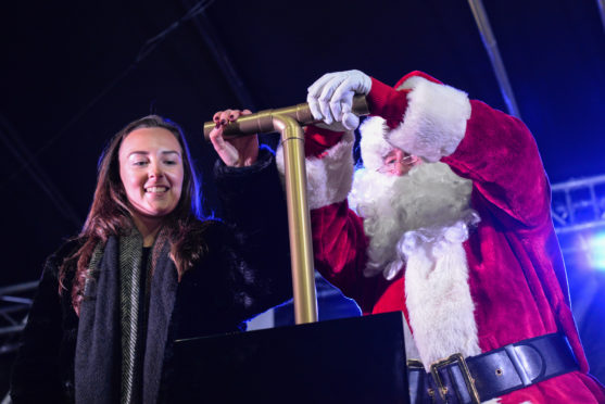 Dunfermline Christmas lights switch-on with footballer Caroline Weir.