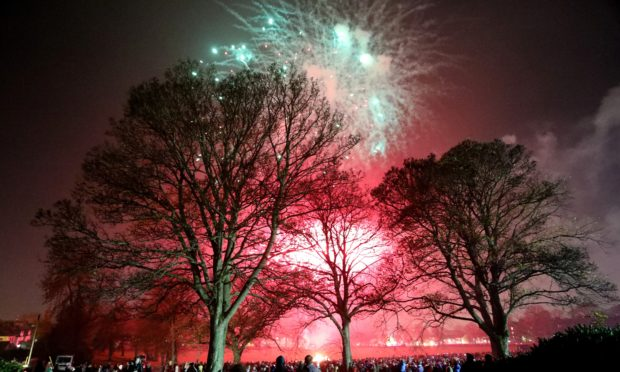Bonfire night at Baxter Park.