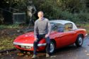Jim Clark's 1962 Lotus Elan at his Kilmany memorial statue
